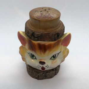 VTG Collectible Salt Shaker Cat. Japan